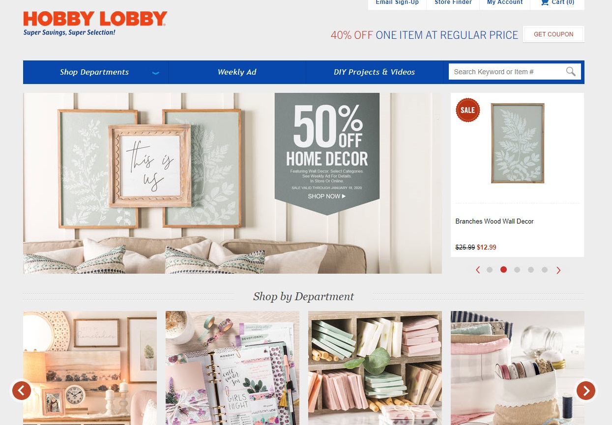Hobby Lobby Weekly Ad Landing Page